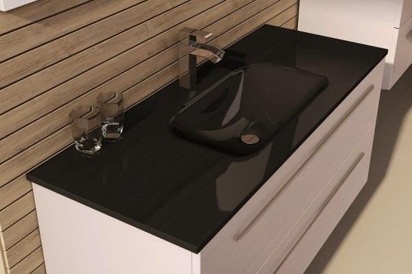 czarna szklana umywalka Elita