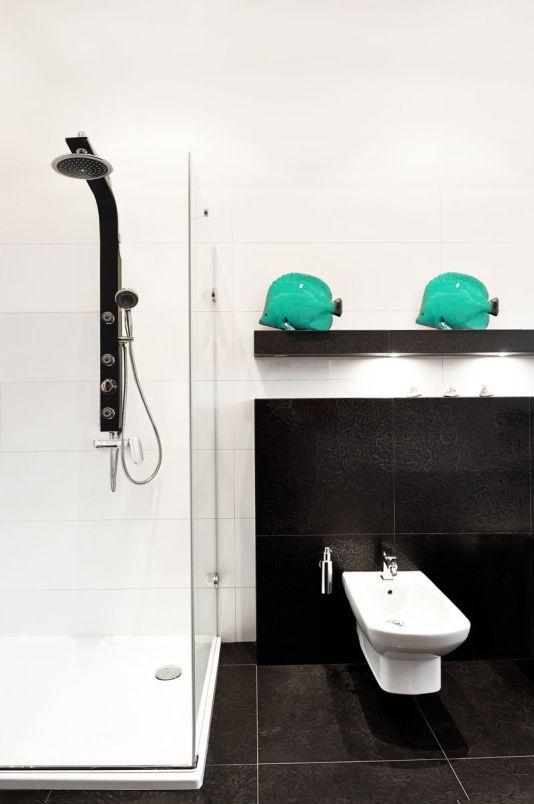 Czarny panel prysznicowy Romeo