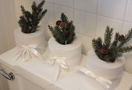 Świątecznie w łazience - stroiki