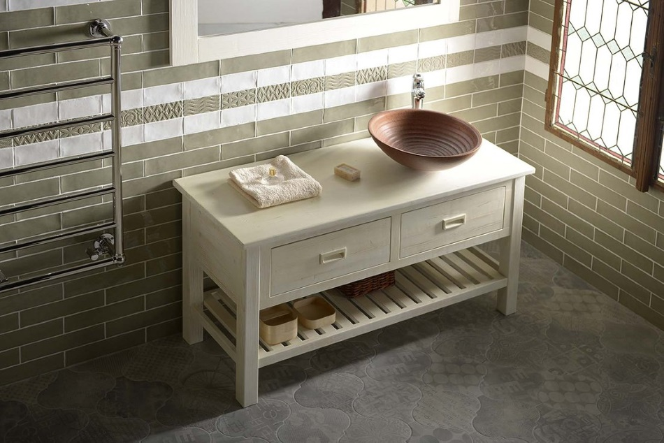 drewniana szafka łazienkowa pod umywalkę Brand - Sapho
