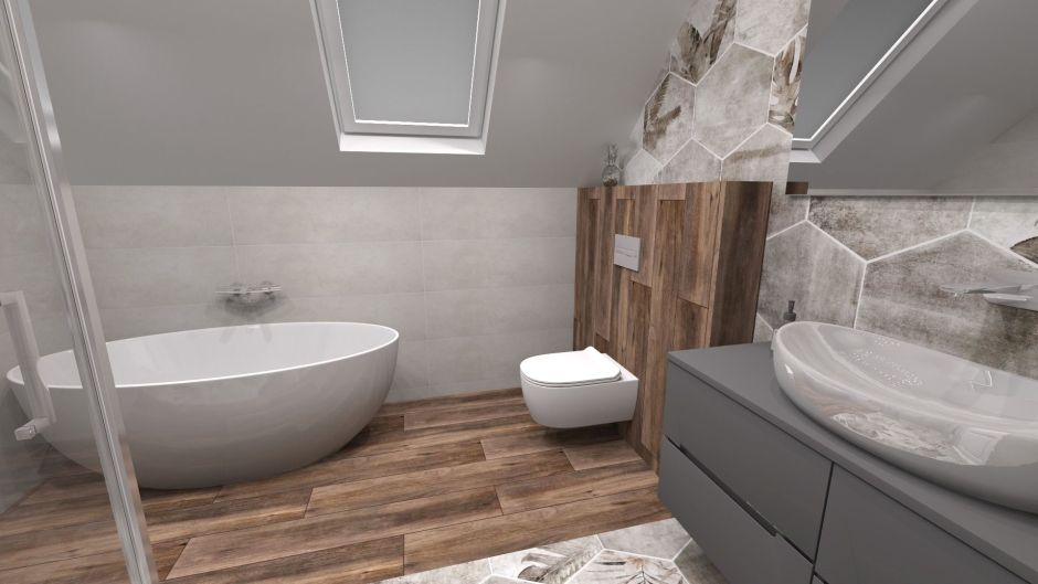 Zabudowa stelaża WC - płytki deski