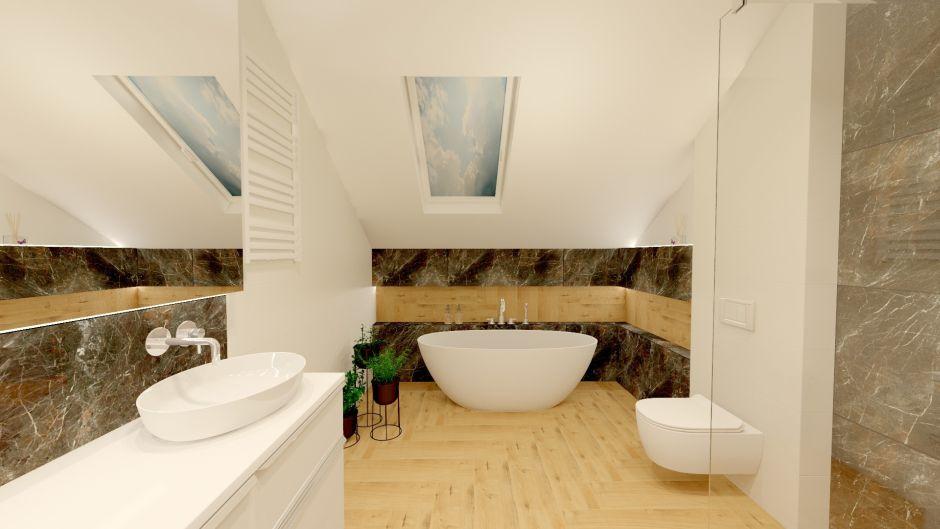 Drewno we wnęce - modne wykończenie ścian w łazience