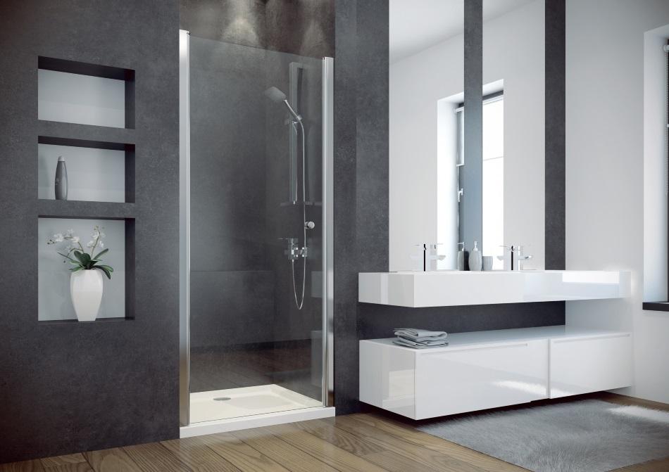Drzwi prysznicowe wahadłowe pojedyncze Besco Sinco