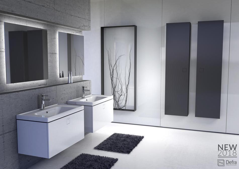 Dwa kolory mebli w łazience