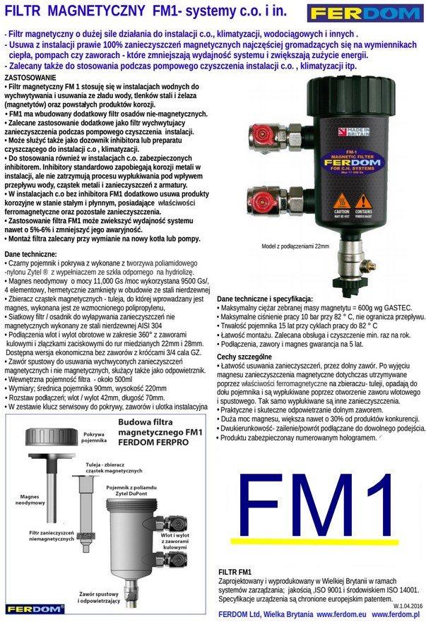filtr magnetyczny FM 1 Ferdom