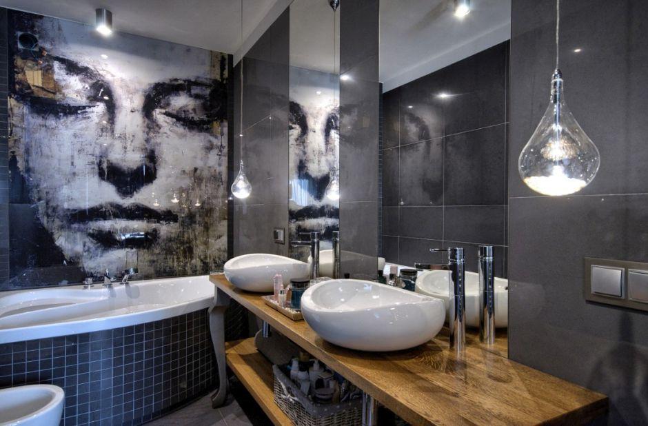 Grafika na szkle w łazience