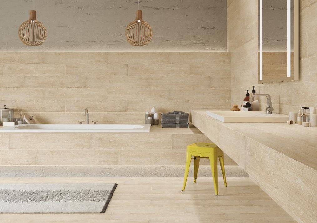 Gres w łazience - kolekcja Catalea desert - Cerrad