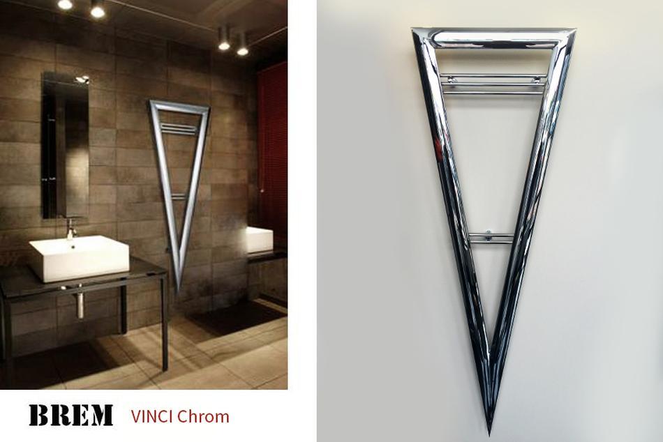 grzejnik chromowany dekoracyjny Brem Vinci chrom