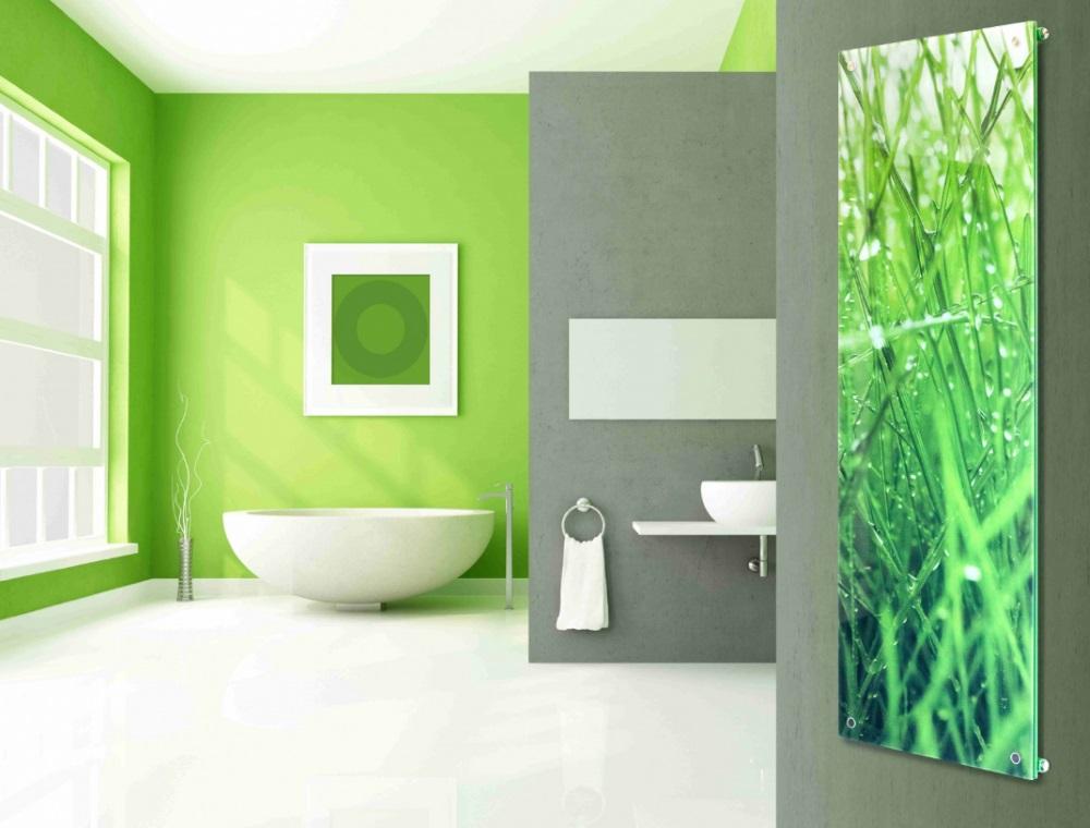 grzejnik Niagara ze szklaną grafiką - Luxrad