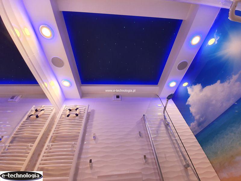 Gwieździste niebo w łazience