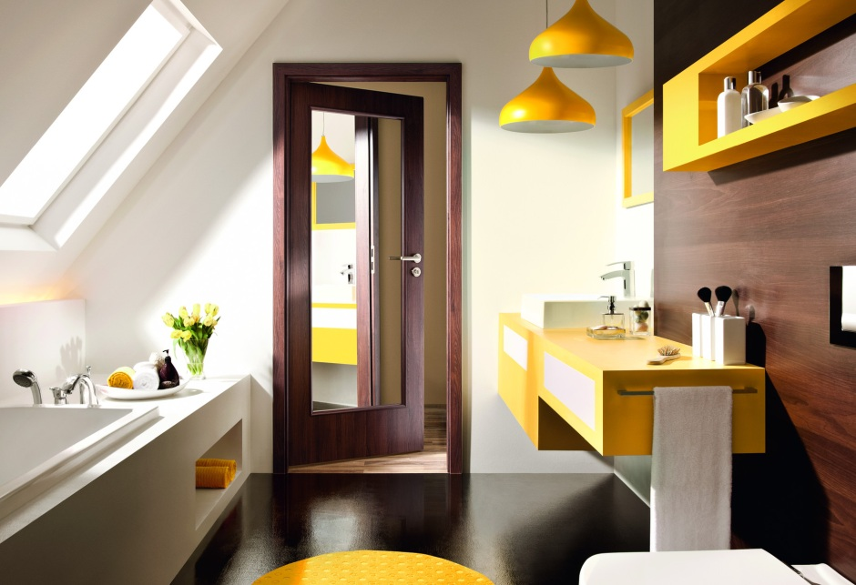 Farba w łazience - pomysły na niebanalne ściany