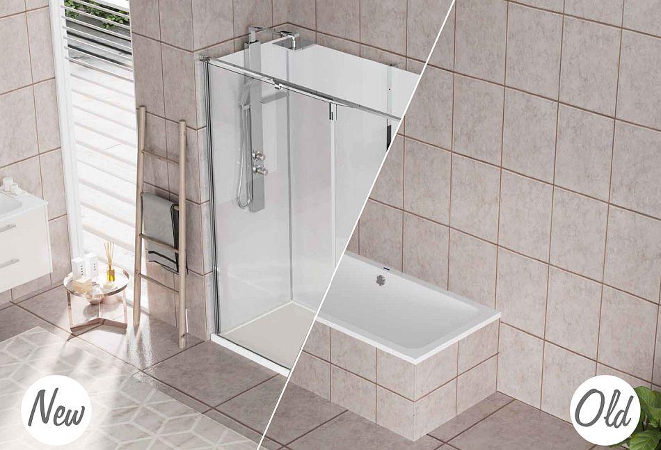 Revolution - łatwa wymiana wanny na prysznic