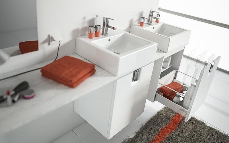 Twins - szafki wiszące do małej łazienki