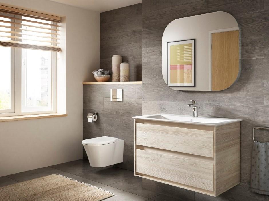 Szafki łazienkowe z frezami - wygodne uchwyty do nowoczesnej łazienki