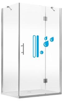 Piękna i czysta kabina z drzwiami natryskowymi ze specjalną powłoką