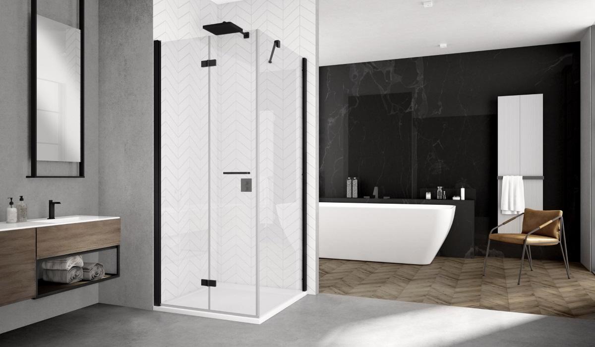 kabina prysznicowa SanSwiss z kolekcji Black Line - seria Solino