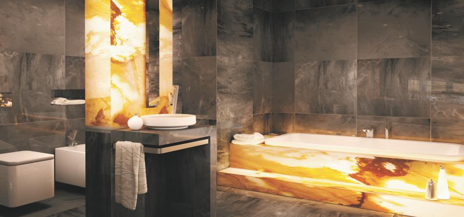 kamień w łazience - Ega
