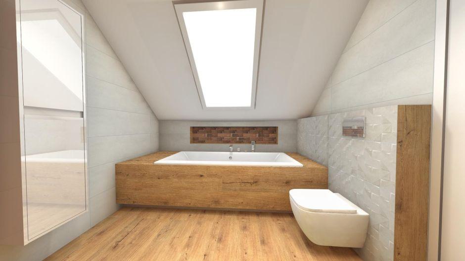 Drewno z bielą - klasyczne połączenie do modnej łazienki