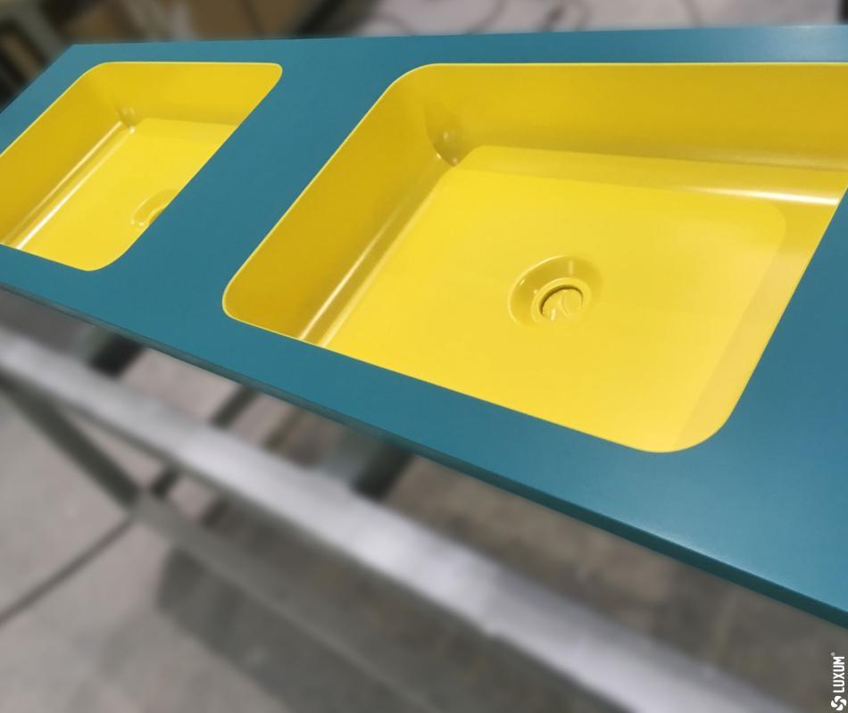 kolorowe umywalki LUXUM