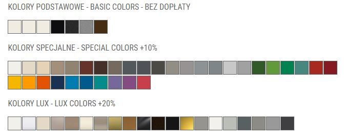 Kolory grzejnika dekoracyjnego