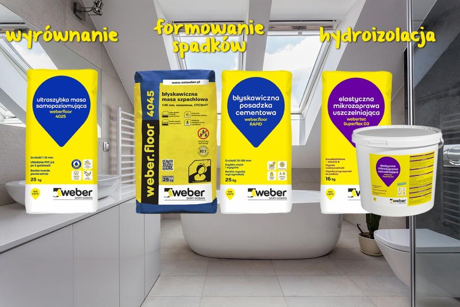 Szybki i łatwy remont łazienki z WEBER