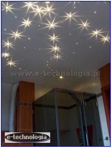 Kryształowe Gwiazdy, oświetlenie sufitu w łazience - E-Technologia