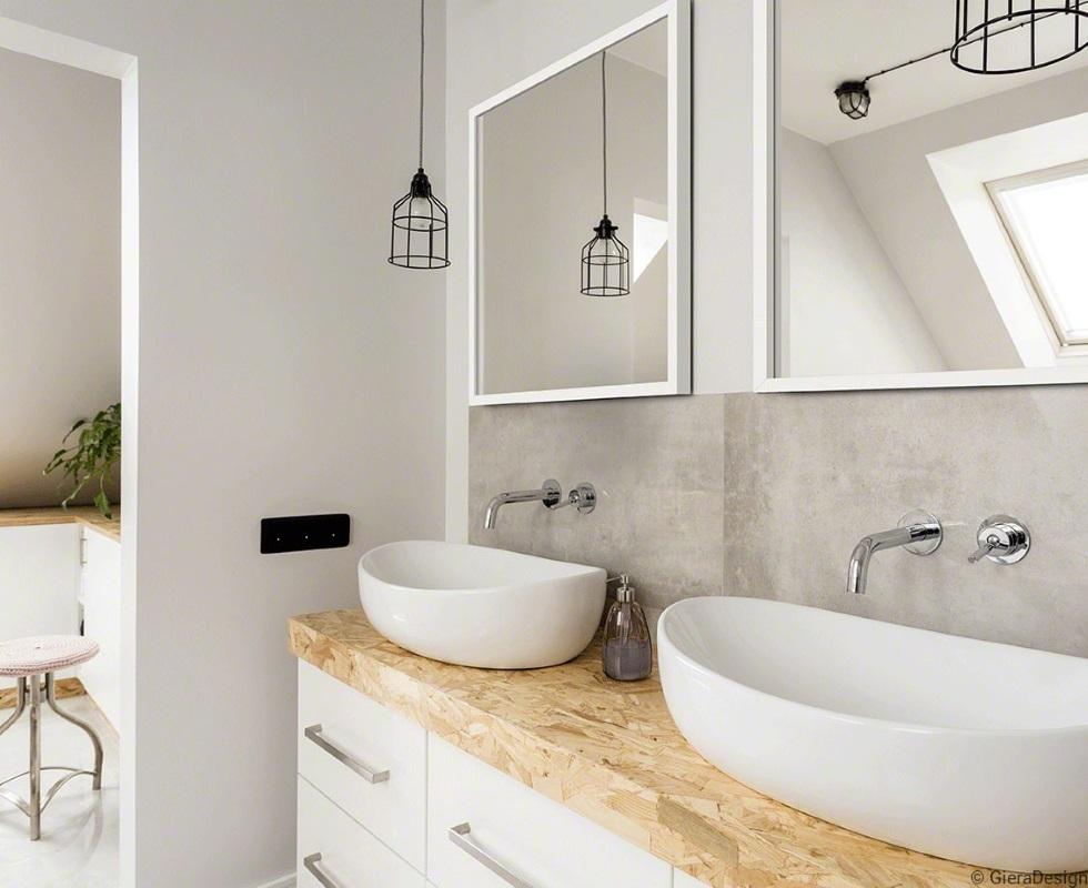lustro w łazience - Scandi SQ Gieradesign
