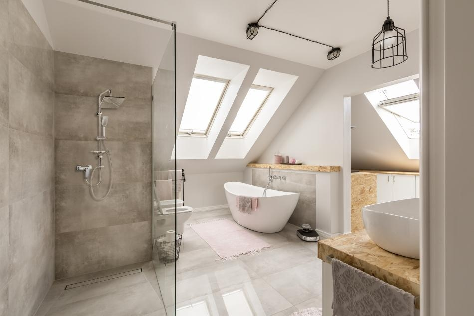 Łazienka dla dwojga - wanna i prysznic