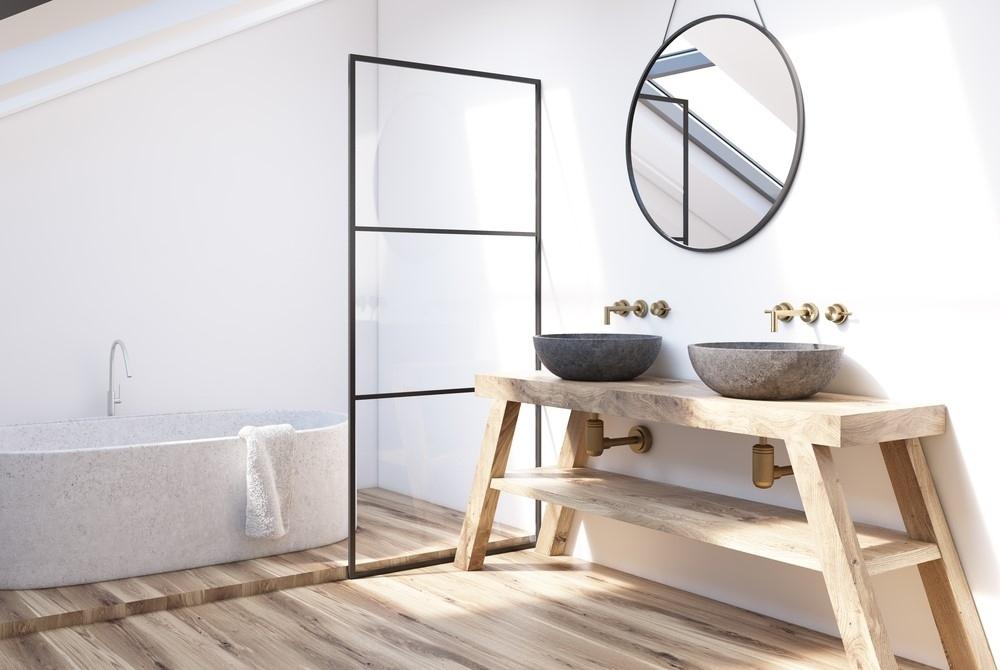 Łazienka nowoczesna - konsola pod umywalkę
