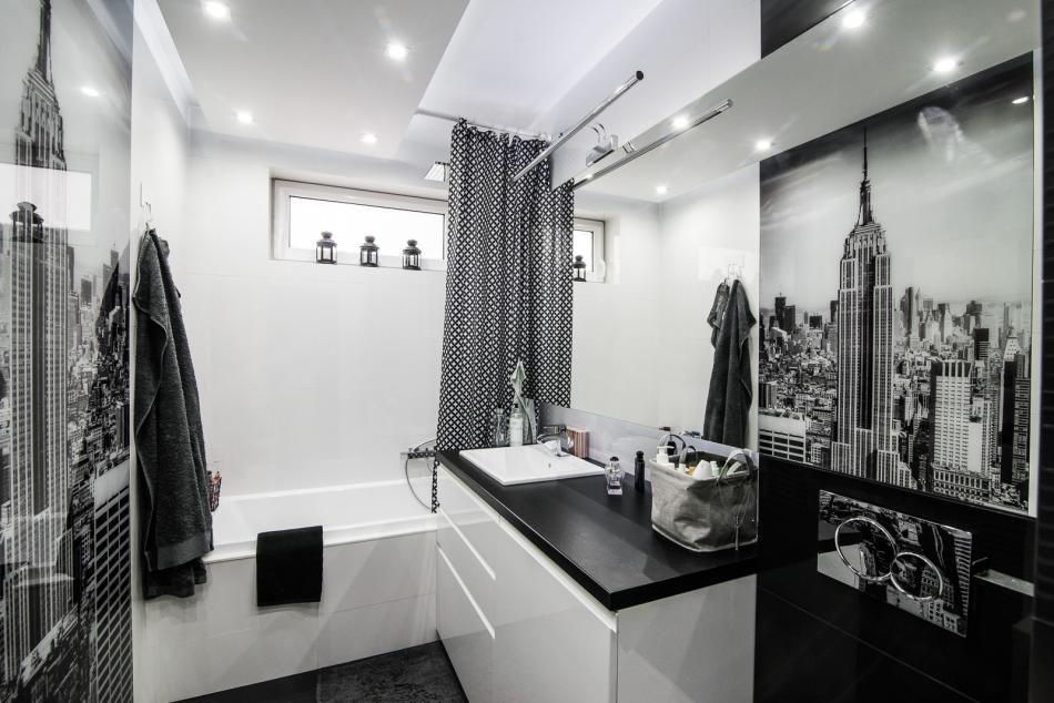 łazienka W Stylu Black White Boksy Wszystko O łazienkach