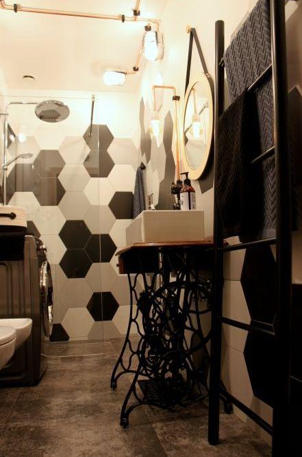 Konsola łazienkowa z maszyny do szycia