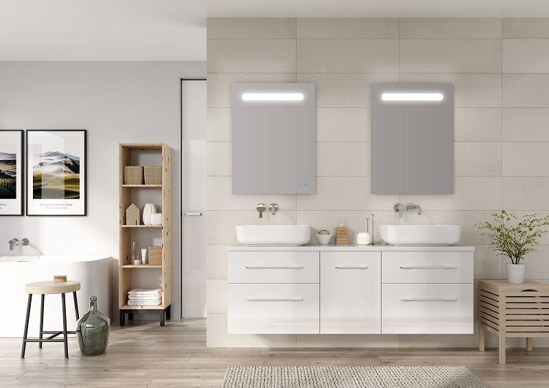 Minimalistyczne meble do łazienki - seria Barcelona