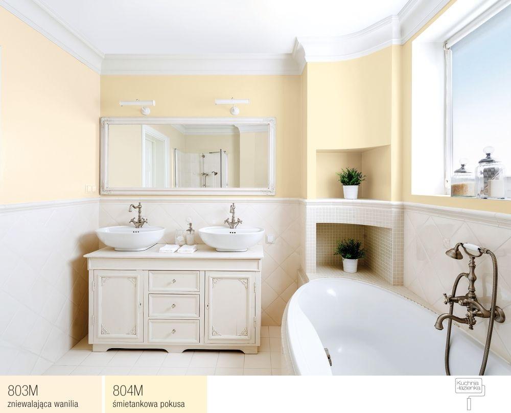 łazienka z waniliowymi ścianami