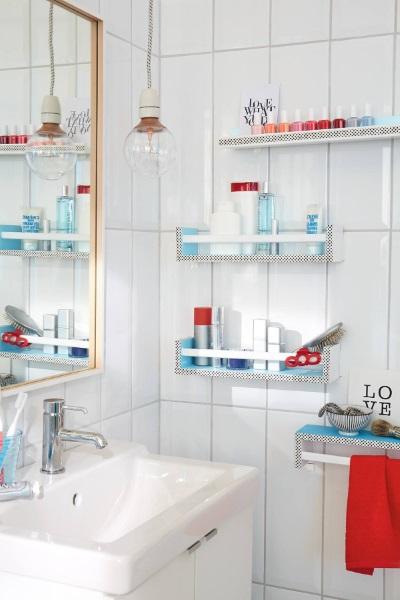 łazienkowe półeczki - jak wykonać