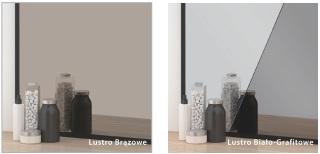 Szkło Colorimo - brązowe i biało-grafitowe