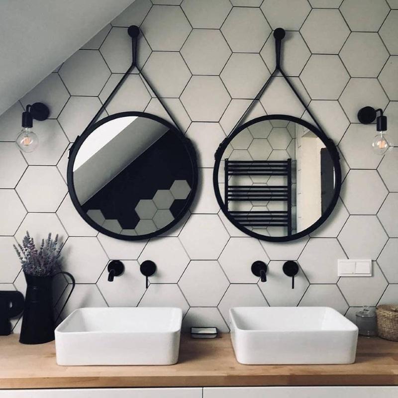 lustro łazienkowe Scandi Belt GieraDesign
