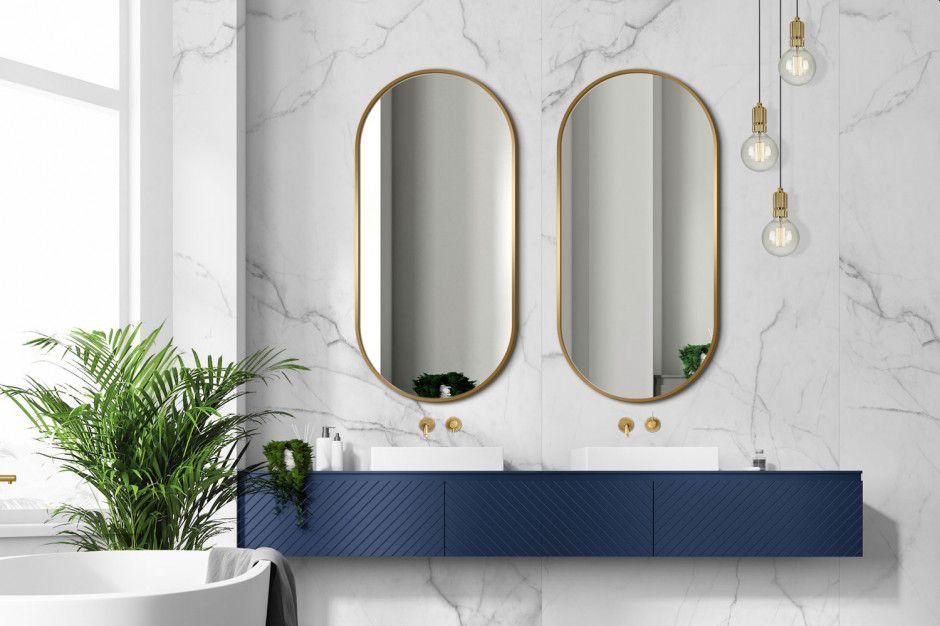 Lustro Ambient Slim – złota rama