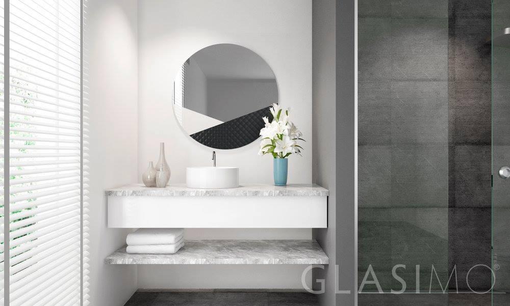 lustro ze szklaną ramą Glasimo