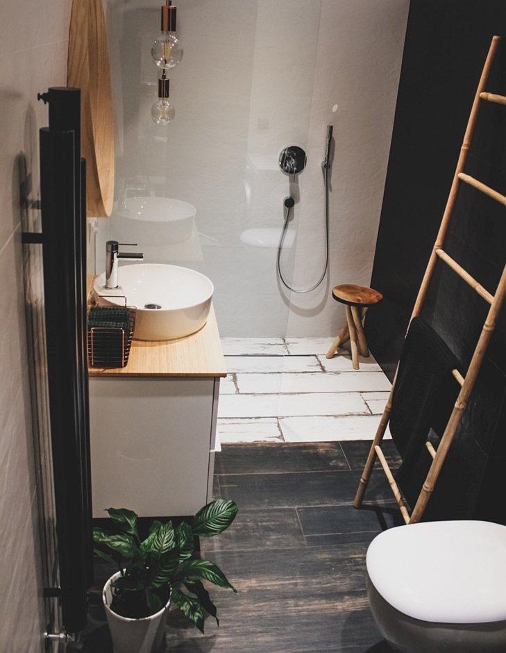 Mała łazienka w klimacie eko