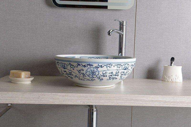 Malowana ręcznie umywalka