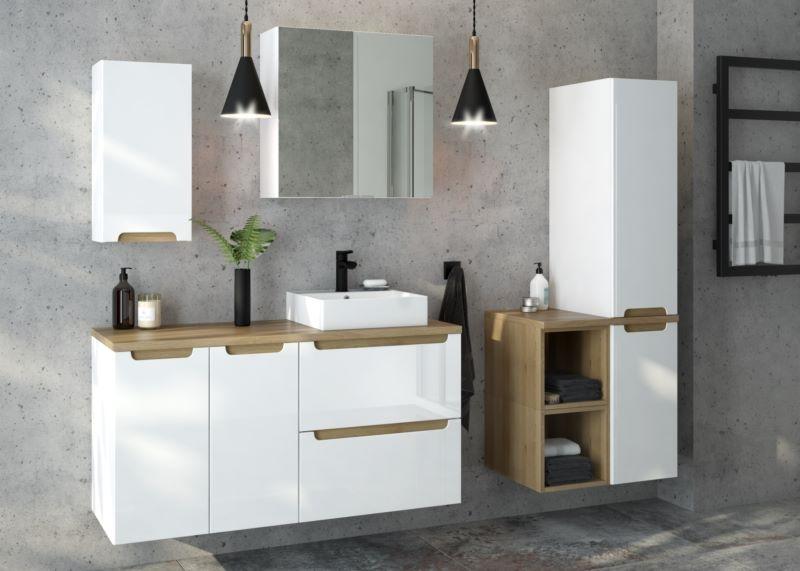 Meble łazienkowe i umywalka nablatowa