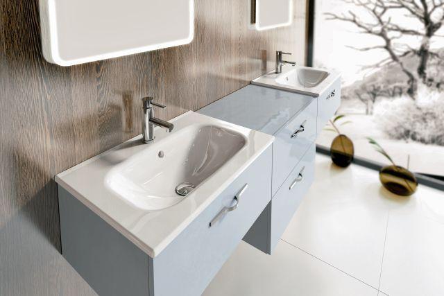 Meble łazienkowe w chłodnym kolorze w stylu skandynawskim Play Elita