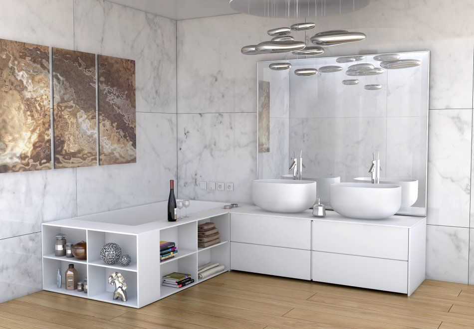 nowoczesna łazienka z meblami na wymiar Luxum