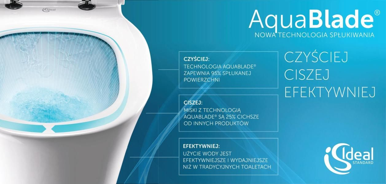 Toaleta bez zakamarków AquaBlade od Ideal Standard