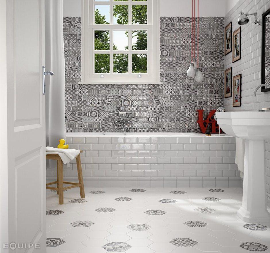 Płytki do łazienki - kształty
