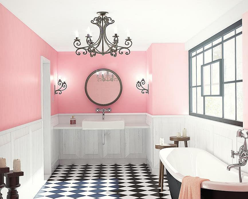Szachownica w łazience - modny wzór