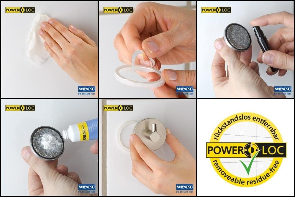 montaż akcesoriów łazienkowych bez wiercenia