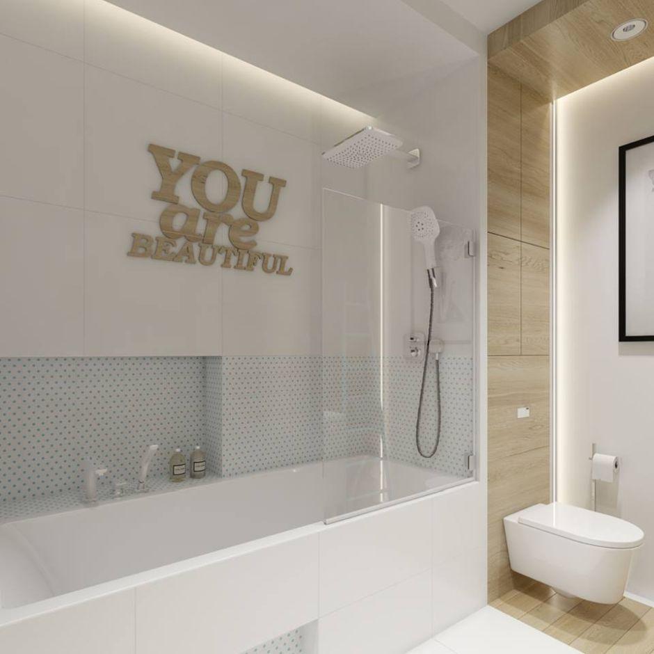 Dekoracje do łazienki - napisy na ścianę