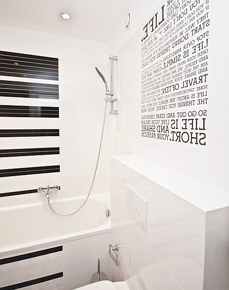 Typografia w łazience - napisy, sentencje, teksty
