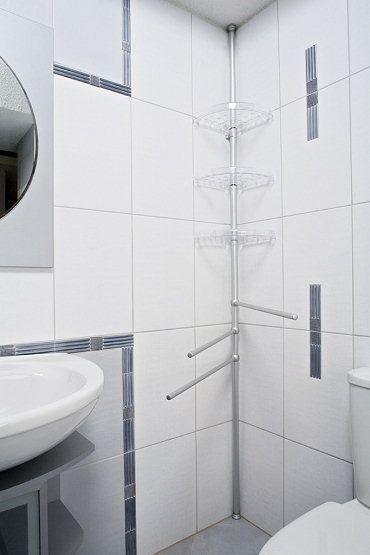 Akcesoria i dodatki do łazienki - półka narożna Ewa